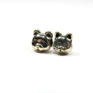 PANDORA 2 Charms Kitty Cat Face and Bear Face